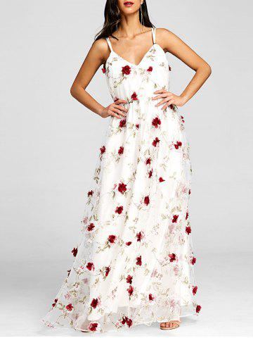 Discount Stereo Floral Maxi Flowing Dress