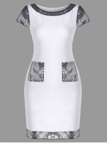 Sequins Cap Sleeve Bodycon Dress