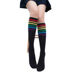 Unique Rainbow Pattern Hose Socks -