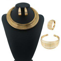 Hmong Style Open Necklace Earrings Bracelet and Ring -