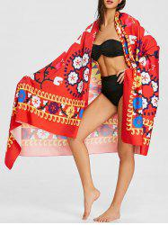 Floral Print Ethnic Summer Beach Throw -