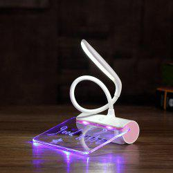 Folding LED Reading Lamp with Message Board -
