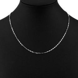 Metal Long Thin Chain Necklace -