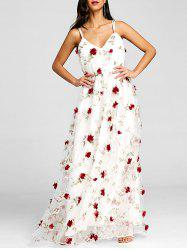 Stereo Floral Maxi Flowing Dress -