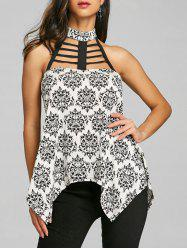 Open Back Ladder Cut Tank Top -