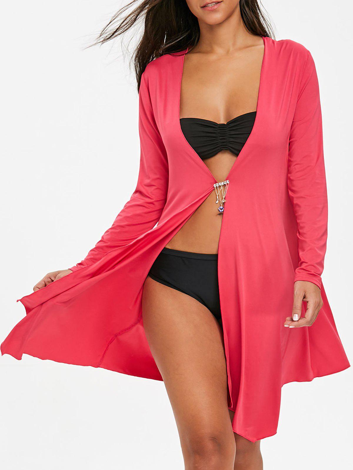 Trendy Beach Long Sleeves Cardigan Cover Up