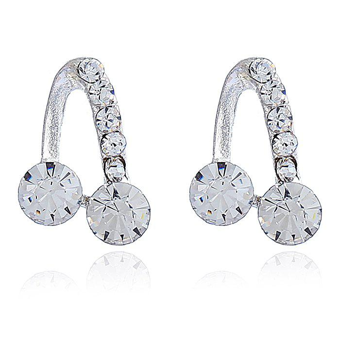 Chic Silvering Hollow Out Music Note Stud Earrings