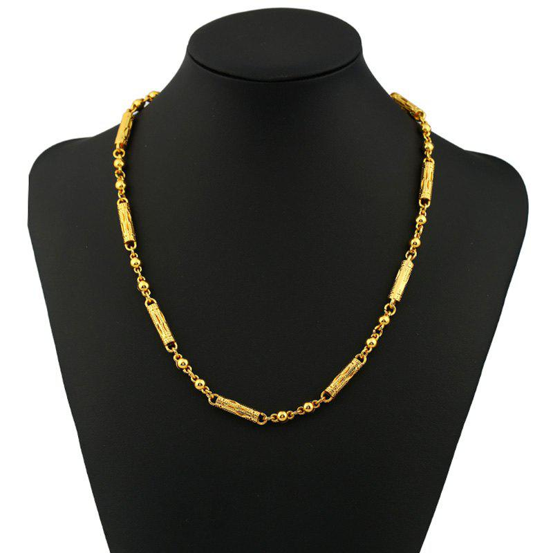 Unique Punk Column Ball Pattern Plated Chain Necklace