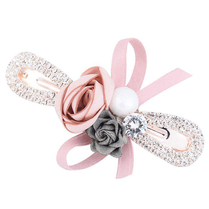 Shop Romantic Rose Bowknot Embellished Hairclip