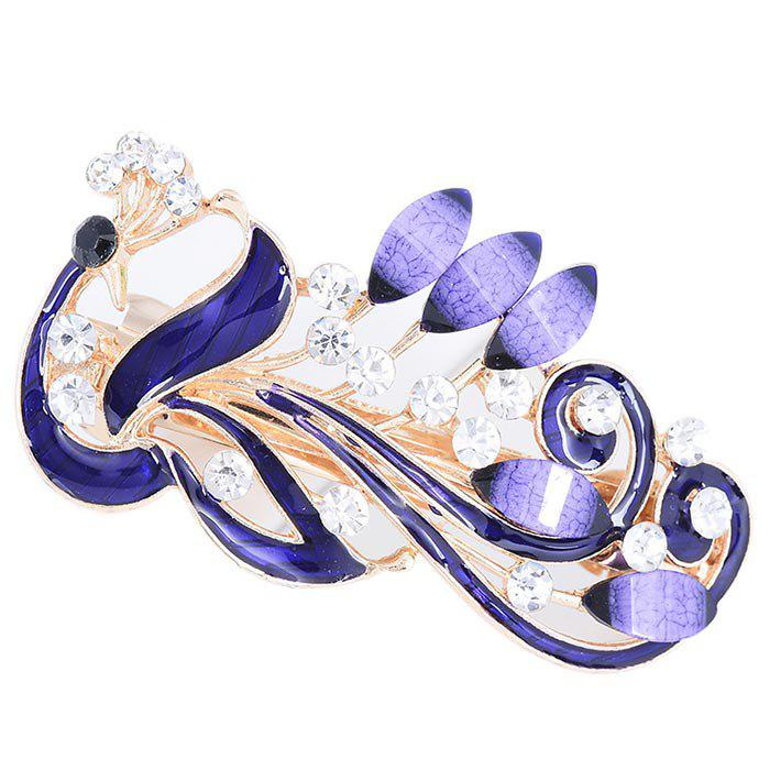 Outfit Peacock Pattern Embellished Hair Clip