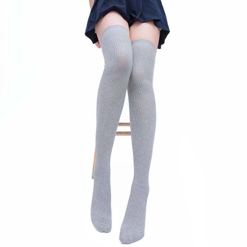 Sale Simple Striped Pattern Knee High Socks
