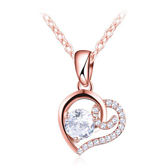 Best Rhinestone Valentine's Day Heart Necklace