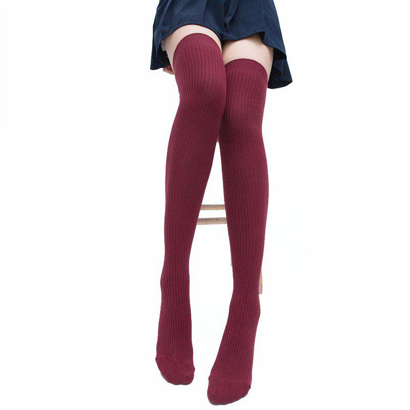 Shop Simple Striped Pattern Knee High Socks