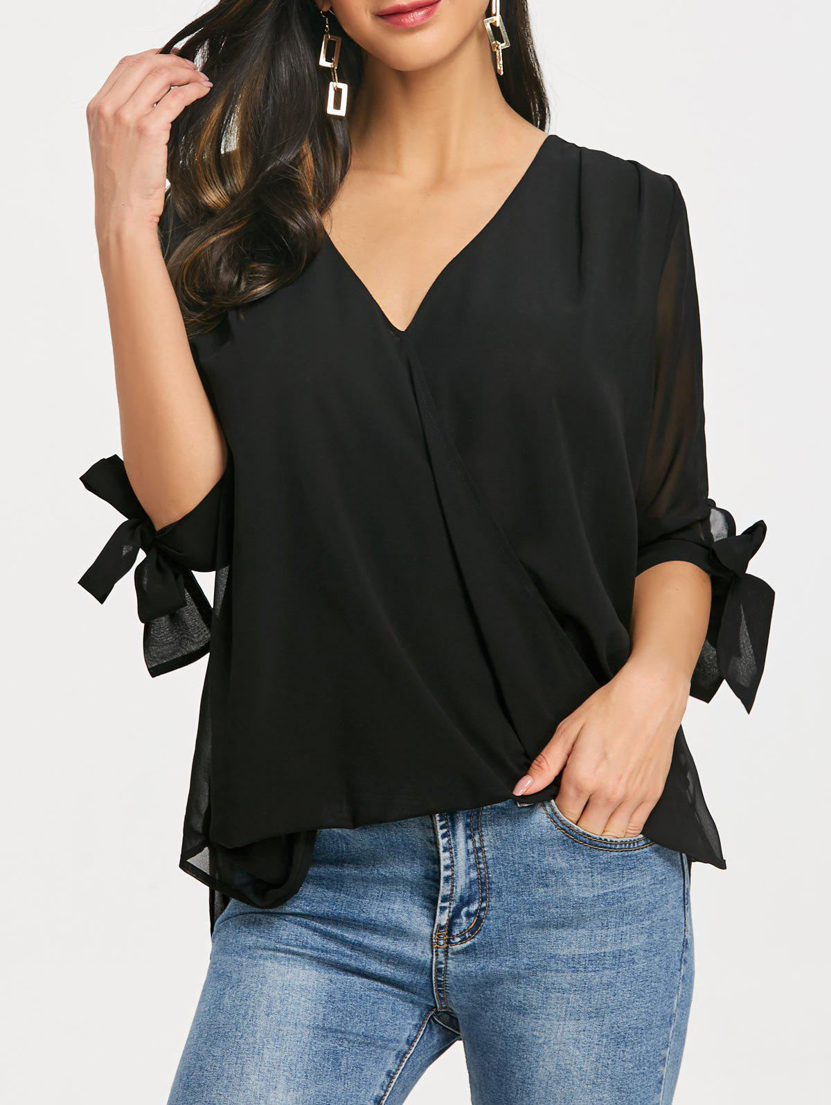 Buy Three Quarter Sleeve Surplice Blouse