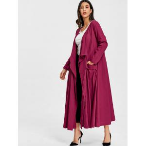 Side Pocket Drape Maxi Coat -