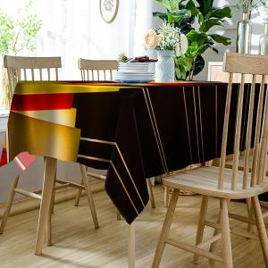 Orthogon Line Pattern Indoor Outdoor Table Cloth -