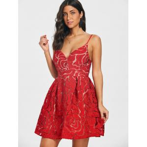 Spaghetti Strap Lace Mini Dress -