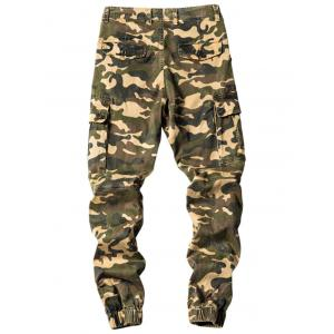 Camouflage Jogger Cargo Pants with Multi Pockets -