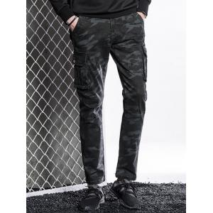 Pantalon Cargo Slim Fit à poches multiples -