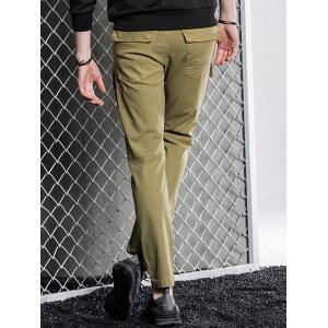 Slim Fit Cargo Pants with Flap Pockets -