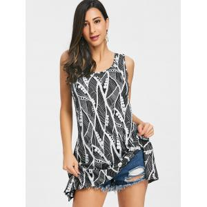 Handkerchief Printed Trapeze Tank Top -