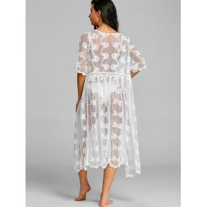 Lace See Through Long Cover Up -