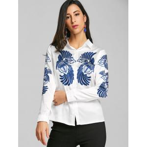 Totem Printed Satin Work Shirt -
