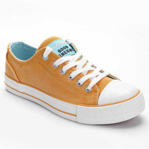 Chic Lace Up Low Top Skate Shoes