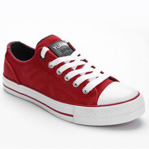 Hot Lace Up Low Top Skate Shoes
