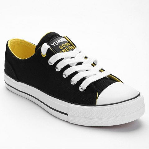 New Lace Up Canvas Skate Shoes