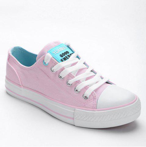 Fashion Lace Up Canvas Skate Shoes