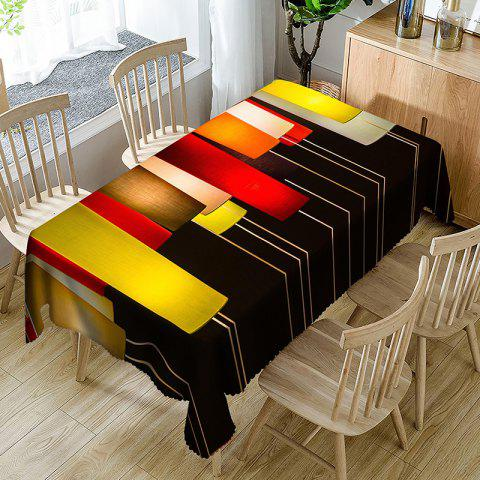Best Orthogon Line Pattern Indoor Outdoor Table Cloth