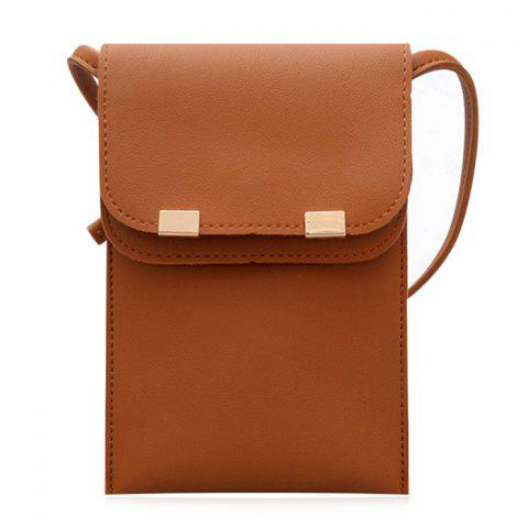 Sale Stitching Minimalist Flapped Cellphone Crossbody Bag