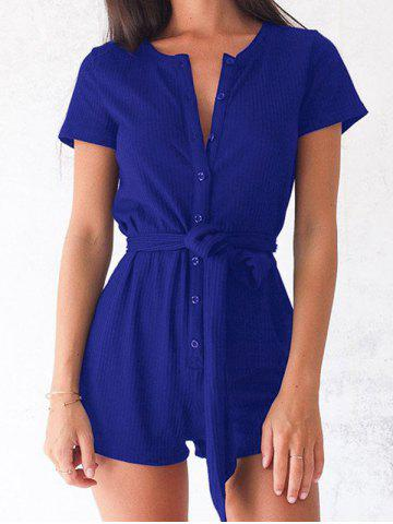 New Button Up Romper with Belt