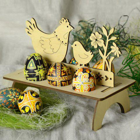 Outfit Chicken and Bird Shape Wooden Easter Egg Holder