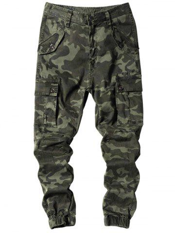 Outfit Camouflage Jogger Cargo Pants with Multi Pockets