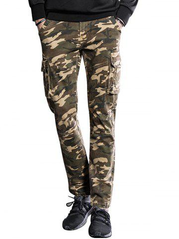Fashion Slim Fit Multi Pockets Camo Cargo Pants