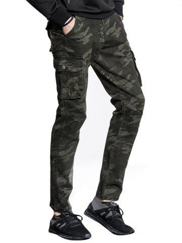 Outfits Slim Fit Multi Pockets Camo Cargo Pants