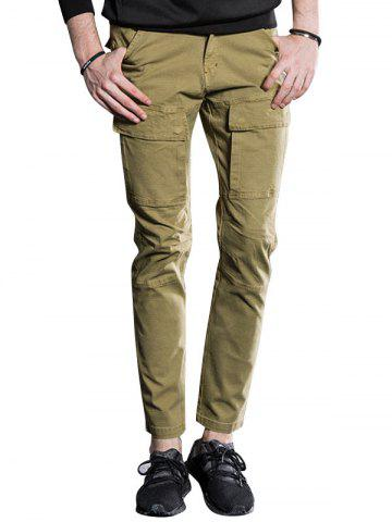 Unique Slim Fit Cargo Pants with Flap Pockets