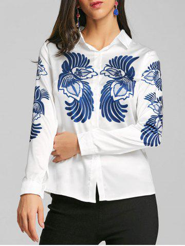 New Totem Printed Satin Work Shirt