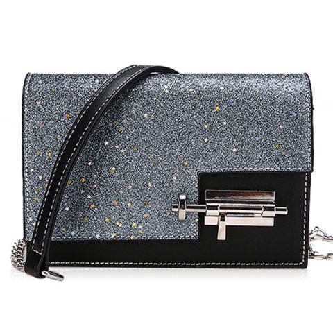 Latest Chain Flap Sequined Crossbody Bag