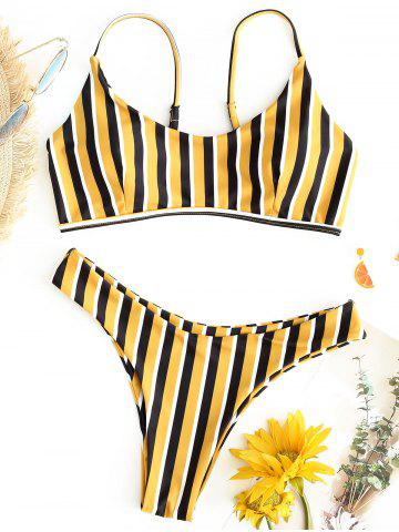 Best Striped Thong Bikini Swimsuit