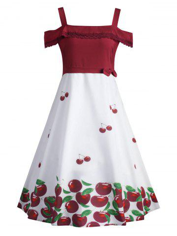 Chic Cherry Plus Size Overlay Vintage 1950's Dress