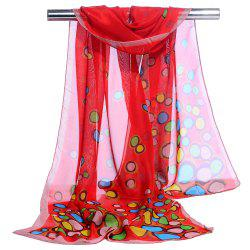 Cute Color Dot Decorated Spring Autumn Scarf -