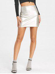 High Waisted Sparkle Bodycon Skirt -