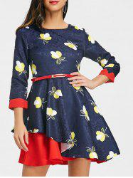 Printed Jacquard Mini Pin Up Dress -