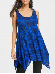 Floral Handkerchief Tunic Trapeze Tank Top -