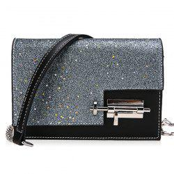Chain Flap Sequined Crossbody Bag -