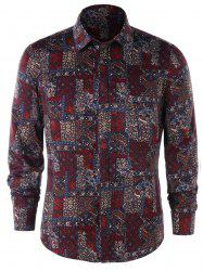 Long Sleeve Tiny Floral Shirt -