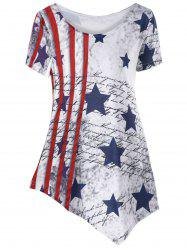 American Flag Asymmetric T-shirt -